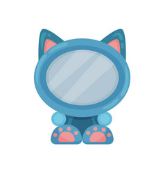 cute photo frame in the shape of cat album vector image