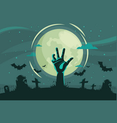 decorative halloween background flat style vector image