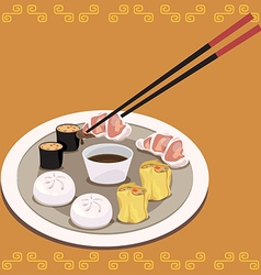 Dimsum set vector