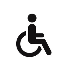 disabled icon wheelchair symbol vector image