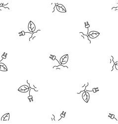 eco plug energy pattern seamless vector image