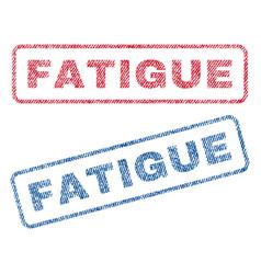Fatigue textile stamps vector