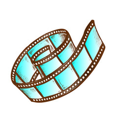 filmstrip roll for video camera color vector image