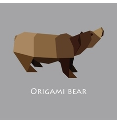 Flat design with origami bear vector