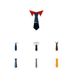 flat icon clothing set of clothing tailoring tie vector image