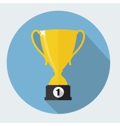 Gold Trophy Cup Winner vector image