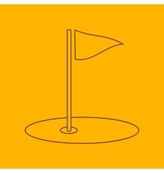 Golf field line icon vector image