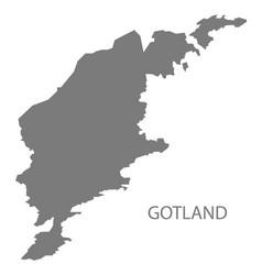 Gotland sweden map grey vector