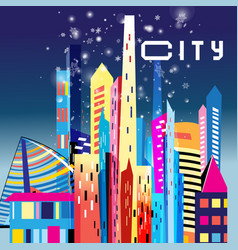 Graphic modern city vector