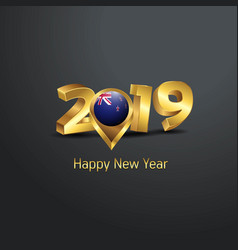 Happy new year 2019 golden typography with new vector