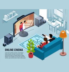 Home online cinema background vector