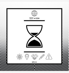 Hourglass time icon vector