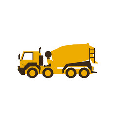 icon concrete mixer construction machinery vector image