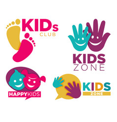 Kids place with entertainments bright promotional vector