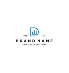 Letter dw logo design template vector