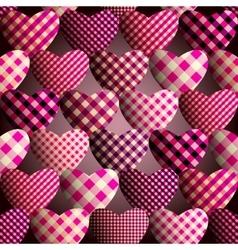Magenta hearts pattern vector