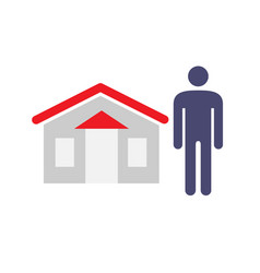 Man and house icon house seller buyer vendor vector