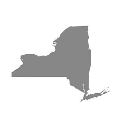 map of the us state of new york vector image