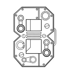 Mechanical number 8 engraving vector