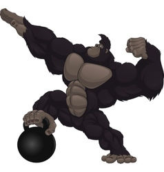 Monkey athlete vector
