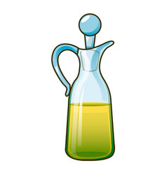 olive oil jar icon cartoon style vector image