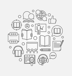 online courses round vector image
