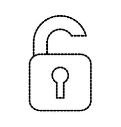 open padlock security protection data file vector image