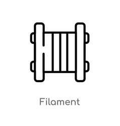 Outline filament icon isolated black simple line vector