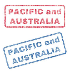Pacific and australia textile stamps vector