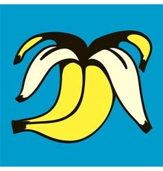 Peeled banana vector