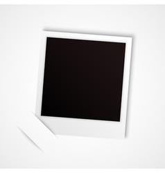 polaroid frame vector image