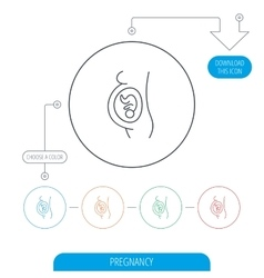 Pregnancy icon Medical genecology sign vector image