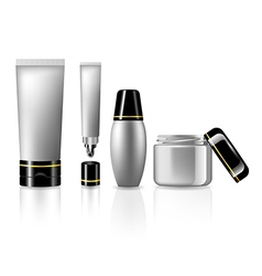 Product set for skin care collection for beauty vector