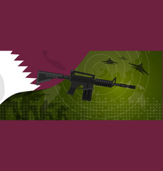 qatar military power army defense industry war and vector image