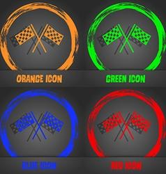 Race Flag Finish icon sign Fashionable modern vector
