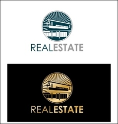 Real estate villa vector