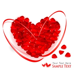 red rose petal heart vector image