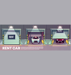 Rental car service cartoon concept vector