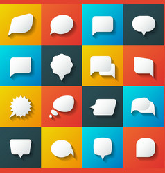 Retro converse speech bubble icons vector