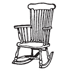 Rocking chair vintage vector