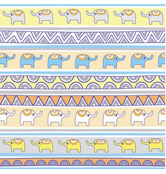 Seamless elephant pattern background2 vector