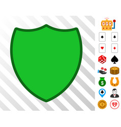 shield icon with bonus vector image
