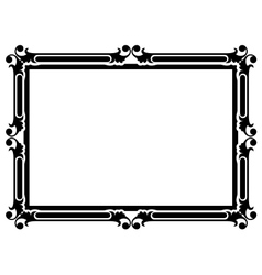 simple decorative frame vector image vector image