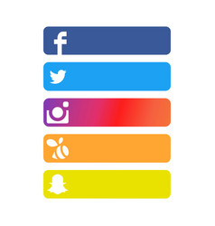 Social network strip backgrounds vector
