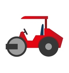 Steamroller truck construction icon graphic vector