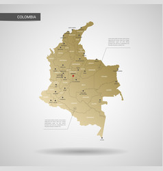 Stylized colombia map vector