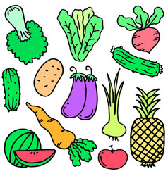 Vegetable set object vector