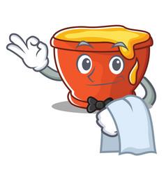 waiter honey character cartoon style vector image