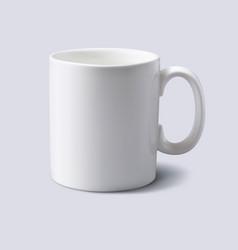 white mug realistic 3d vector image