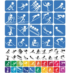 Winter Sports Symbols vector image